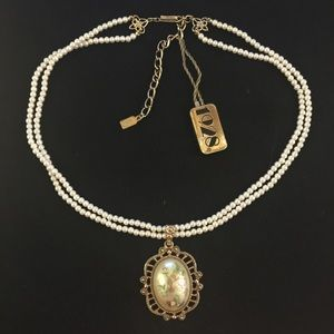 Vintage Victorian style 1928 faux pearl necklace
